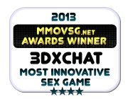 Winner 2013 Most Innovative Sex Game (3DXChat Badge)