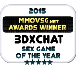 Winner 2015 Sex Game Of The Year (3DXChat Badge)