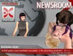 3D SexVilla 2 - Newsroom TV Studio