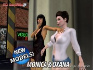 3D SexVilla 2 - Back Alley - New Models - Monica & Oxana