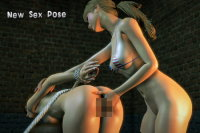 3DXChat - Girl on Girl - BDSM Sex Pose