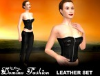 AChat - Leather Domino Outfit